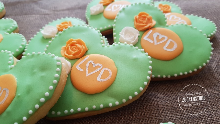 Royal-Icing-Kekse für die Gäste